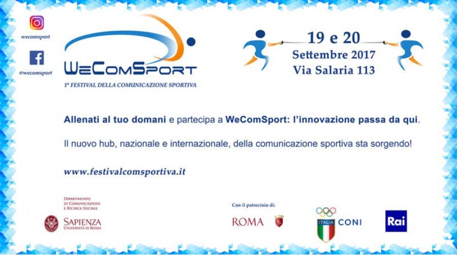 Locandina WeComSport (19 e 20 settembe 2017)