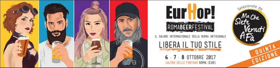 EurHop Beer Festival. Dal 6 all'8 ottobre al Salone delle Fontane (Eur)