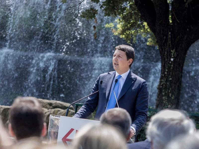 Il giardino delle Cascate Inaugurazione, Diacetti Presidente EUR Spa