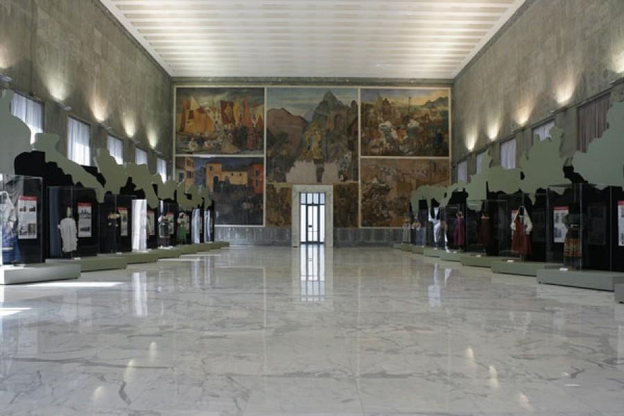 Il Salone d'Onore del Museo Arti e Tradizioni Popolari