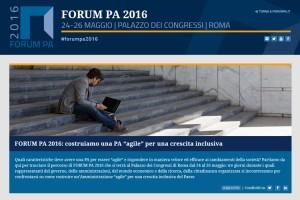 Il FORUM PA 2016 si terrà dal 24 al 26 maggio al Palazzo dei Congressi dell'Eur.