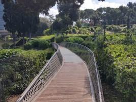 Il giardino delle Cascate Inaugurazione, il ponte Hashi