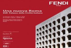 """Locandina della mostra """"Una nuova Roma. Eur Palazzo della Civiltà Italiana"""""""