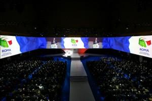 Un momento dell'evento di presentazione di Roma 2024 al Palazzo dei Congressi - Roma eur.