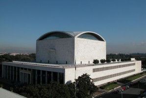 Il Palazzo dei Congressi visto dall'alto - Roma Eur
