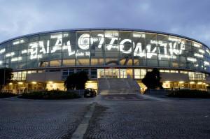 Il Palazzo dello Sport, meglio conosciuto come Palalottomatica - Roma Eur.